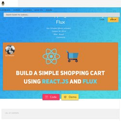 Creating A Simple Shopping Cart with React.js and Flux
