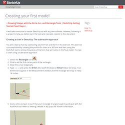 Crear tu primer modelo - Ayuda de Sketchup