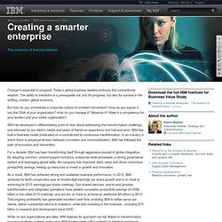 Creating a smarter enterprise