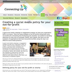 Creating a social media policy for your not-for-profit