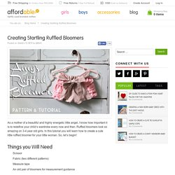 Creating Startling Ruffled Bloomers