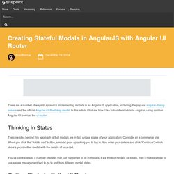 Creating Stateful Modals in AngularJS with Angular UI Router