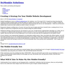 Creating A Strategy For Your Mobile Website Development