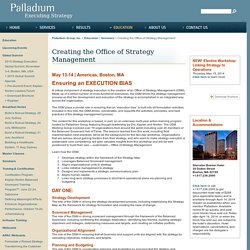 Creating the Office of Strategy Management