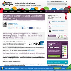 Creating a strategy for using LinkedIn for B2B marketing