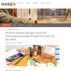 29 Free Online Design Tools for Creating Stunning Visual Content for the Web