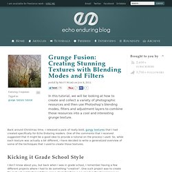 Grunge Fusion: Creating Stunning Textures with Blending Modes and Filters