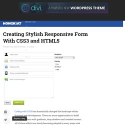 Creating Stylish Responsive Form With CSS3 and HTML5