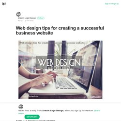 Web design tips for creating a successful business website