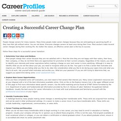 Creating a Successful Career Change Plan