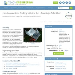 Cooking with the Sun - Creating a Solar Oven
