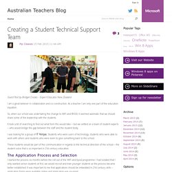 Creating a Student Technical Support Team - Australian Teachers Blog