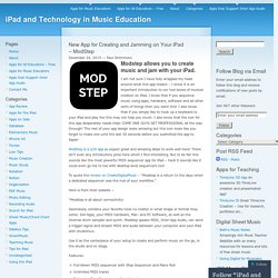 New App for Creating and Jamming on Your iPad – ModStep