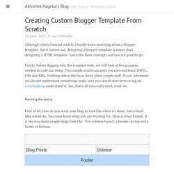 Creating Custom Blogger Template From Scratch · Abhishek Nagekar's Blog