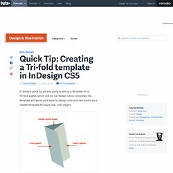 Creating a Tri-fold template in InDesign CS5