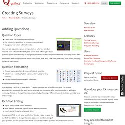Survey Design - Create Survey - Online Survey Design - Design a Survey with Qualtrics Research Suite