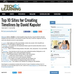 Top 10 Sites for Creating Timelines by David Kapuler
