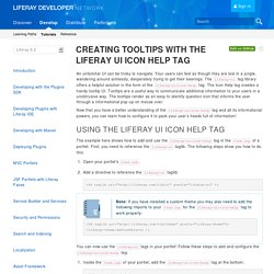 Creating Tooltips with the Liferay UI Icon Help Tag - Liferay 6.2 - Liferay Developer Network