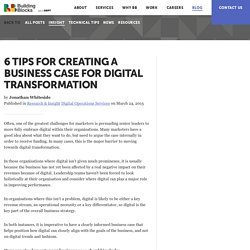 6 tips for creating a business case for Digital Transformation