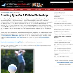 Creating Type On A Path In Photoshop