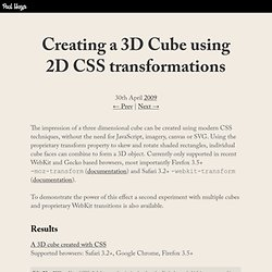 Creating a 3D Cube using 2D CSS transformations