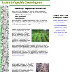 Creating a Vegetable Garden Plot From Scratch