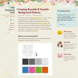 Creating Reusable & Versatile Background Patterns