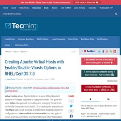 Creating Apache Virtual Hosts with Enable/Disable Vhosts Options in RHEL/CentOS 7.0