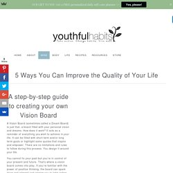 A step-by-step guide to creating your own Vision Board - Youthful Habits