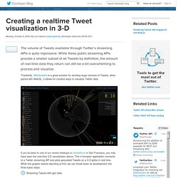 Creating a realtime Tweet visualization in 3-D