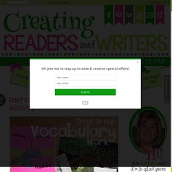 Creating Readers and Writers: Fast Finds: A Vocabulary Activity