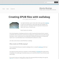 Creating EPUB files with wallabag