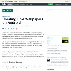 Creating Live Wallpapers on Android