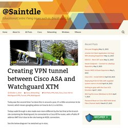 Creating VPN tunnel between Cisco ASA and Watchguard XTM - @Saintdle
