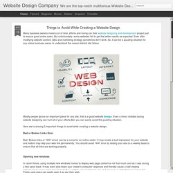 Website Design Company: Things to Avoid While Creating a Website Design