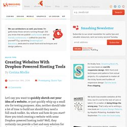 Creating Websites With Dropbox-Powered Hosting Tools