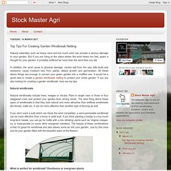 Stock Master Agri: Top Tips For Creating Garden Windbreak Netting