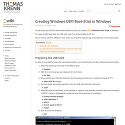 Creating Windows UEFI Boot-Stick in Windows - Thomas-Krenn-Wiki