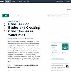 Child Themes Basics and Creating Child Themes in WordPress