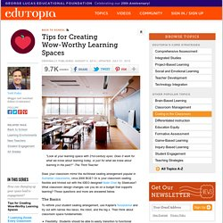 Tips for Creating Wow-Worthy Learning Spaces