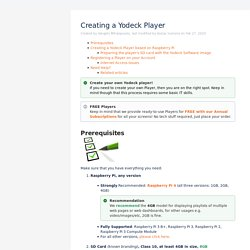 Creating a Yodeck Player - Yodeck User Documentation - Yodeck Documentation
