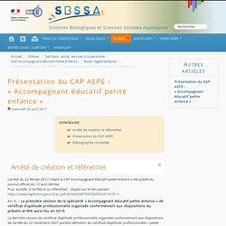 Création du CAP AEPE : « Accompagnant éducatif petite enfance »