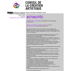 Conseil de la création artistique - Actualités