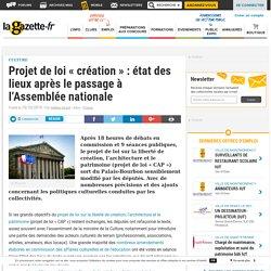 Projet de loi « création » : état des lieux après le passage à l'Assemblée nationale
