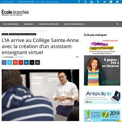 L'IA arrive au Collège Sainte-Anne avec la création d'un assistant-enseignant virtuel