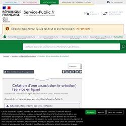 Téléservice : Création d'une association (e-création)