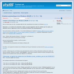 Création automatique Live Windows (WinPE 4 / 5 / 5.1 / 10) - Treshaut.net