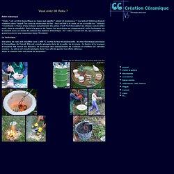 Création Céramique: technique du raku