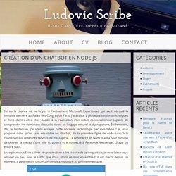 Création d'un chatbot en Node.js - Ludovic Scribe