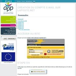 Création du compte e-mail sur laposte.net - APP Alsace du Nord
